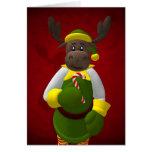 Whimsical Reindeer Elf Card