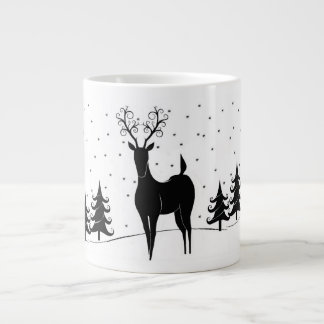 Whimsical Reindeer Giant Coffee Mug