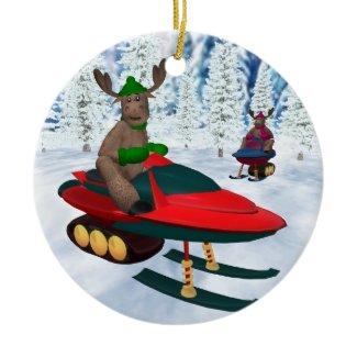 Reindeer on Snowmobiles