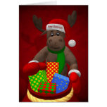 Whimsical Reindeer: Santa's Helper Greeting Cards
