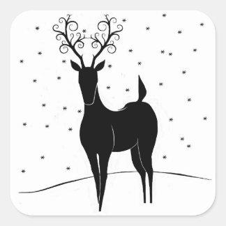 Whimsical Reindeer Sticker