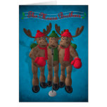 Whimsical Reindeer: The Moose Brothers Card
