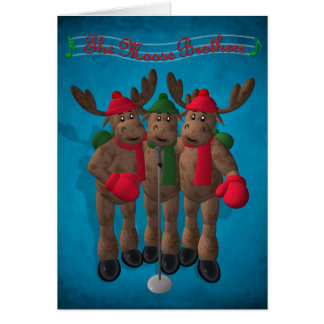 Whimsical Reindeer: The Moose Brothers Greeting Card