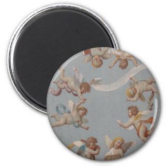 Whimsical Renaissance Cherub Angels 2 Inch Round Magnet