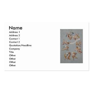 Whimsical Renaissance Cherub Angels Business Card