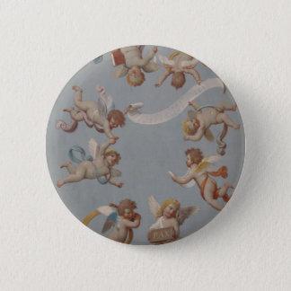 Whimsical Renaissance Cherub Angels Button