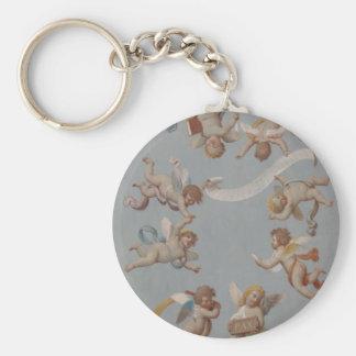 Whimsical Renaissance Cherub Angels Keychain