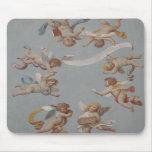 Whimsical Renaissance Cherub Angels Mouse Mat