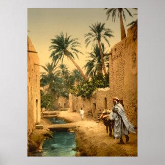 Whimsical Rendition of Biskra Algeria Poster