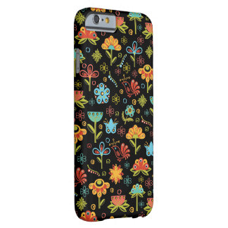 Whimsical Retro Flowers and Birds Barely There iPhone 6 Case