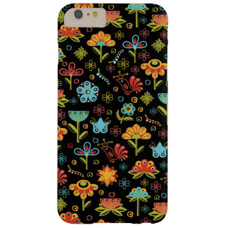 Whimsical Retro Flowers and Birds Barely There iPhone 6 Plus Case
