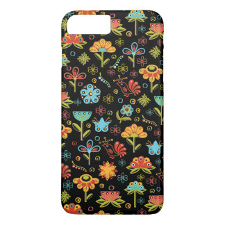 Whimsical Retro Flowers and Birds iPhone 8 Plus/7 Plus Case