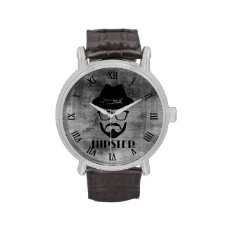 Whimsical Retro Hipster Design Wrist Watch