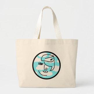 Whimsical Retro Stewardess Canvas Bag