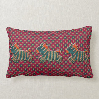 Whimsical Retro Zebras Pillow