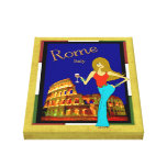 Whimsical Roman Coliseum Design Gallery Wrapped Canvas