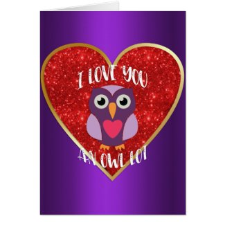 Whimsical Romantic Owl Valentine's Day