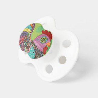 Whimsical Rooster BooginHead Pacifier