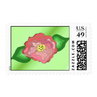 Whimsical Rose Postage