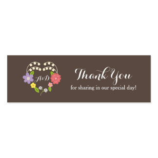 Whimsical Rustic Flowers Thank You Favor Tag Business Cards