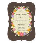 Whimsical Rustic Romantic Pastel Flower Wreath Announcements