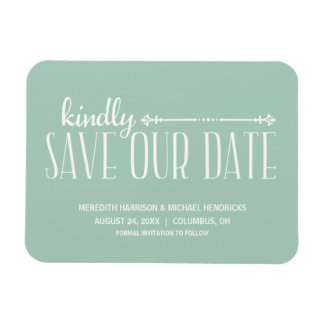 Whimsical Rustic Save the Date Rectangular Photo Magnet
