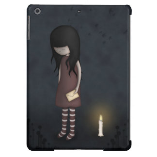 Whimsical Sad, Melancholy Young Girl with a Candle iPad Air Case