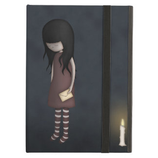 Whimsical Sad, Melancholy Young Girl with a Candle iPad Air Cases