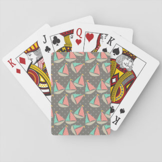 Whimsical Sailboats Deck Of Cards