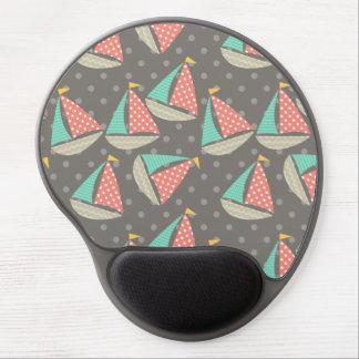 Whimsical Sailboats Gel Mousepad