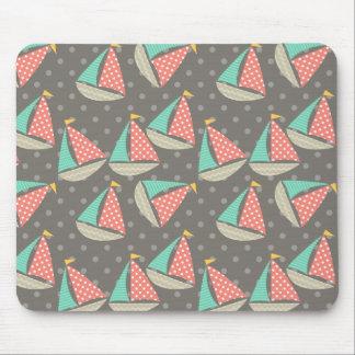 Whimsical Sailboats Mousepad