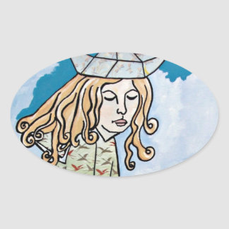"""Whimsical """"Sailor Girl"""" Stickers"""