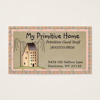 Whimsical Saltbox House Business Card