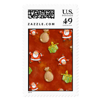 whimsical santa and presents pattern stamp