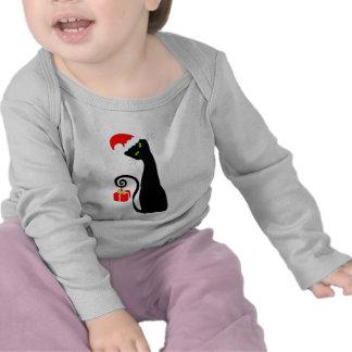 Whimsical Santa Cat Baby T-Shirt