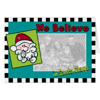 Whimsical Santa Claus Card
