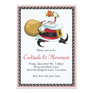 Whimsical Santa Holiday Party 5x7 Paper Invitation Card