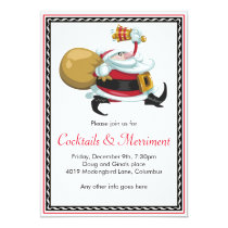 Whimsical Santa Holiday Party Invitation