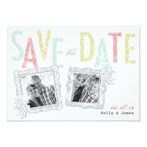 Whimsical Save the Date Card