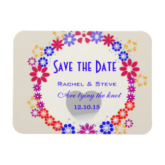 Whimsical Save the Date Wedding Magnet