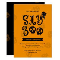 Whimsical Say Boo Halloween Party Invitation