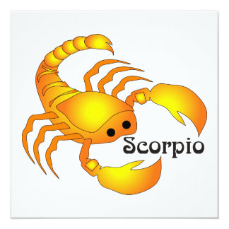 Whimsical Scorpio Invitations