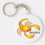 Whimsical Scorpio Keychain