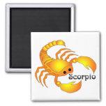 Whimsical Scorpio Magnets