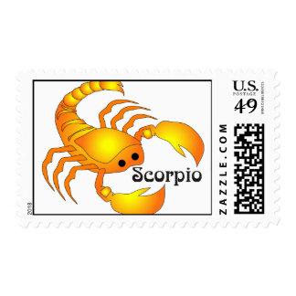 Whimsical Scorpio Postage Stamp