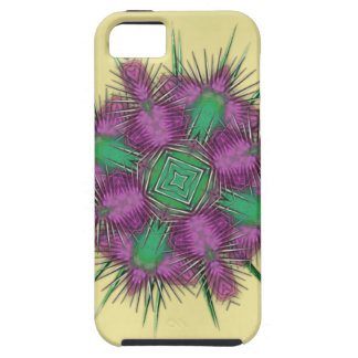 Whimsical Scottish Thistle Head Floral Design iPhone 5 Cover