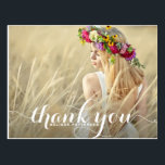 """Whimsical Script Graduation Thank You Postcard<br><div class=""""desc"""">Customizable graduation thank you card featuring modern calligraphy script. This card will aslo be perfect for any other events.</div>"""