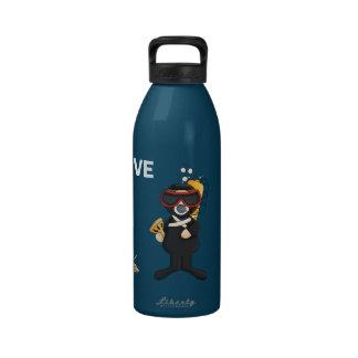 Whimsical Scuba Diver Water Bottle