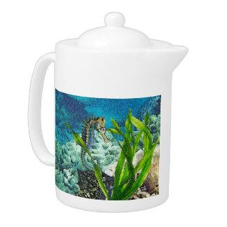 Whimsical Sea Horse Teapot
