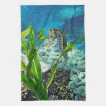 Whimsical Seahorse Hand Towels